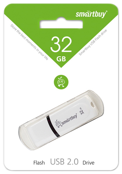 флешка USB SmartBuy Paean 32GB white