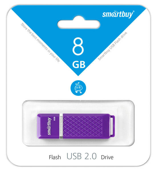 флешка USB SmartBuy Quartz series 8Gb violet