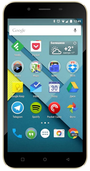 смартфон Micromax Canvas Spark 2 Q391 black сhampagne