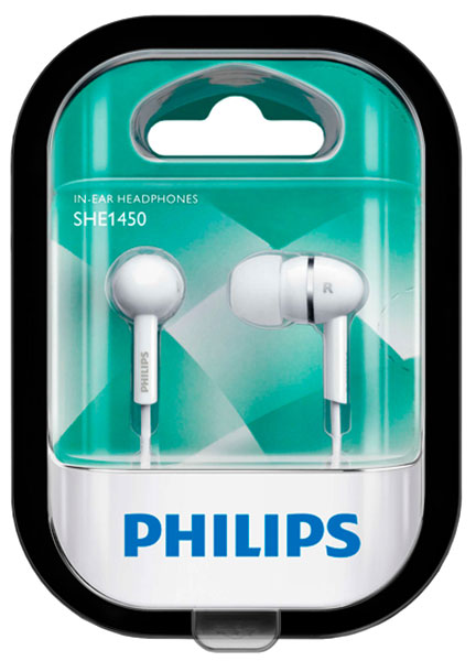 наушники Philips SHE1450 white