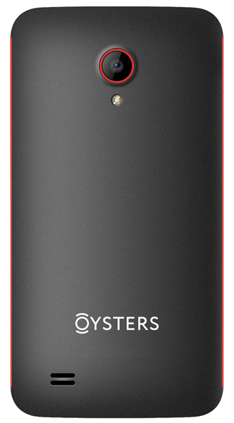 смартфон Oysters Indian V black/red