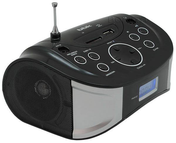 MP3 - магнитола BBK BS01 black/silver