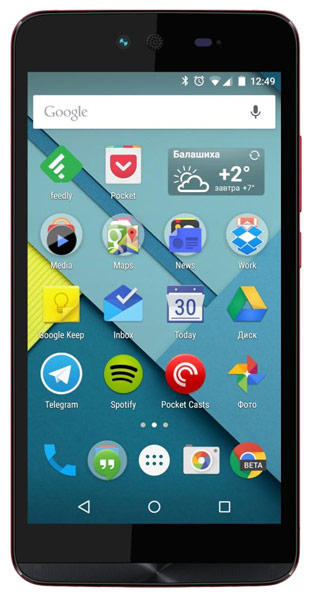 смартфон Micromax Canvas Magnus 2 Q338 red
