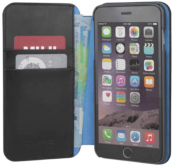 чехол X-Guard iPhone 6 plus Leather black