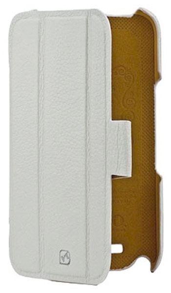 чехол Hoco Samsung Galaxy Note 2 N7100 Real Leather case white