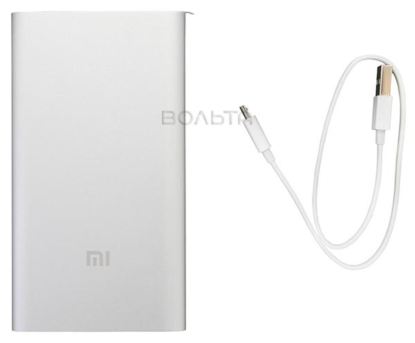 внешний аккумулятор Xiaomi Mi Power Bank 5000 Mah Silver по самой