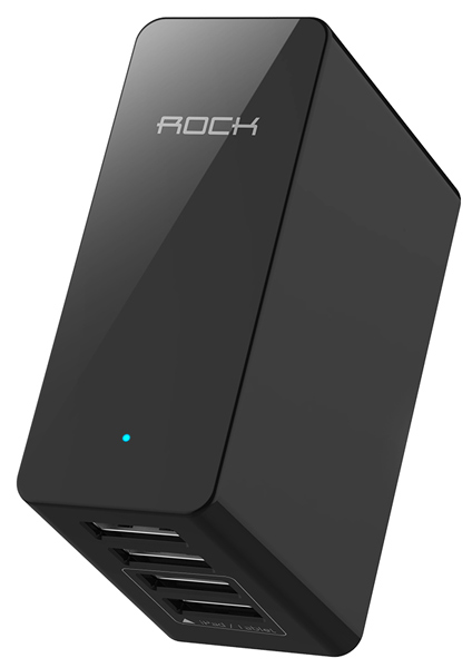 зарядное устройство Rock Rocket Travel Charger 4USB 6.8A iron grey