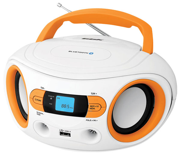 MP3 - магнитола BBK BS15BT white/orange