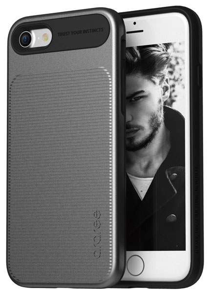 накладка Araree Amy iPhone7 gun metal