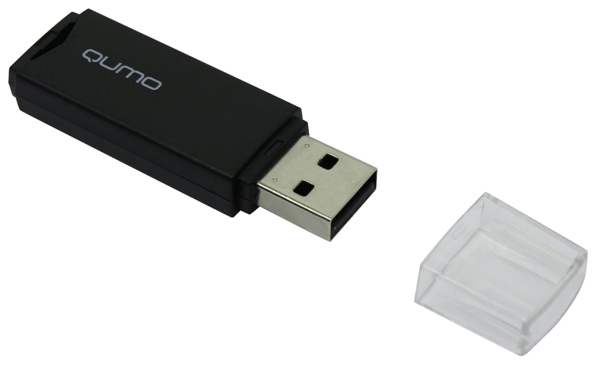 флешка USB QUMO Tropic 4Gb black