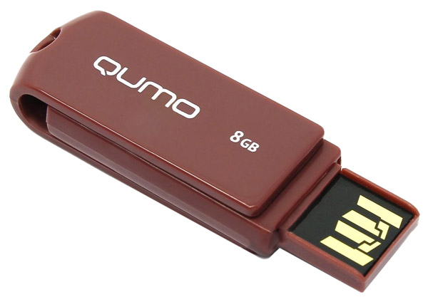 флешка USB QUMO Twist 8Gb rosewood