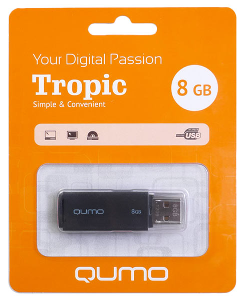 флешка USB QUMO Tropic 8Gb black