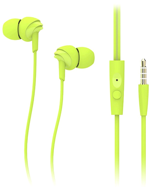 гарнитура для iPhone Rock Y1 Stereo Earphone green