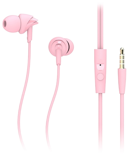 гарнитура для iPhone Rock Y1 Stereo Earphone pink