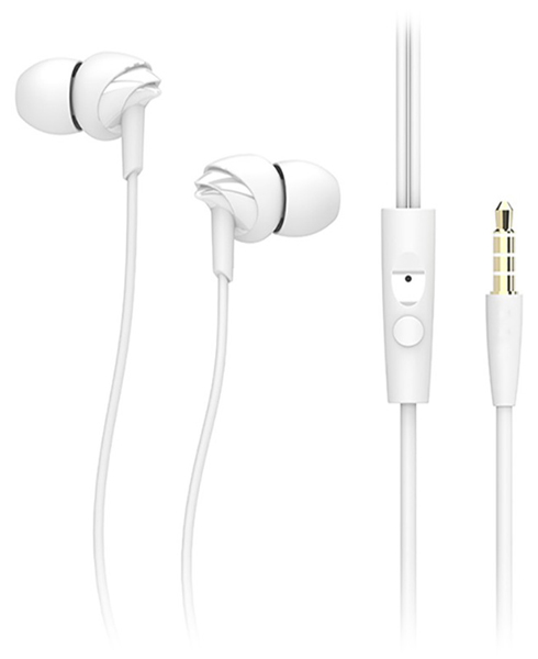гарнитура для iPhone Rock Y1 Stereo Earphone white