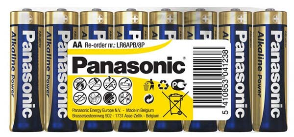 батарейки (8 шт.) Panasonic LR6/AA Alkaline Power-SR8