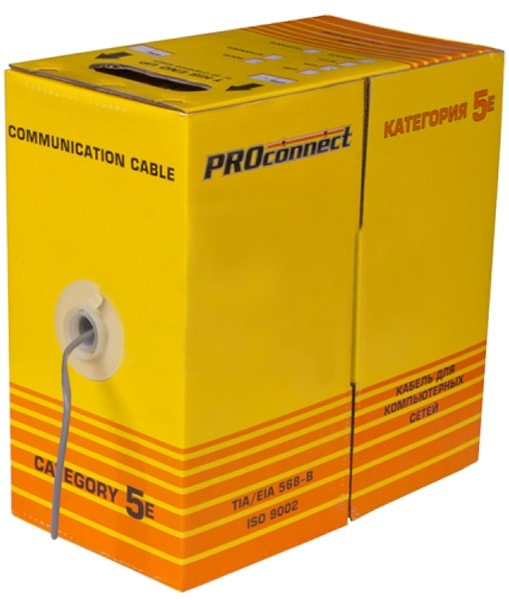 витая пара PROCONNECT FTP 4PR 24AWG CAT5e 305м