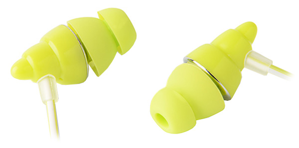 проводная гарнитура для телефона Rock Y3 Stereo Earphone green