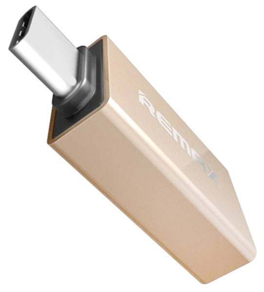 OTG адаптер для MacBook Remax RA-OTG1 Type-C-USB gold