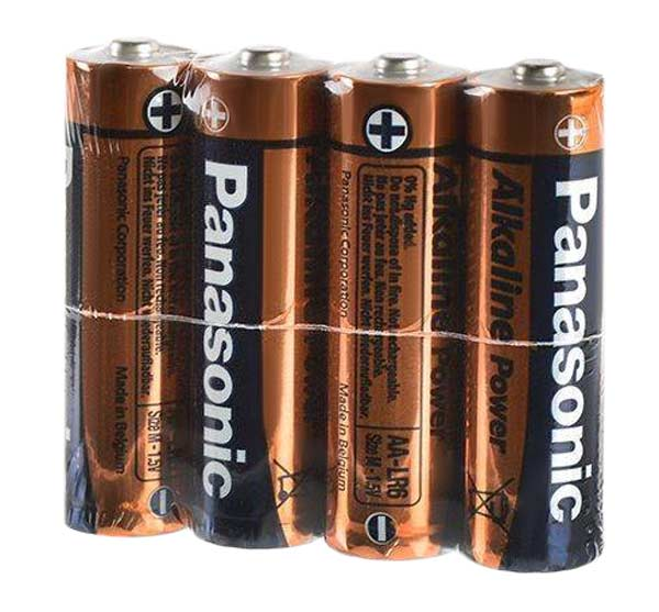батарейки (4 шт.) Panasonic LR6/AA Alkaline Power-SR4