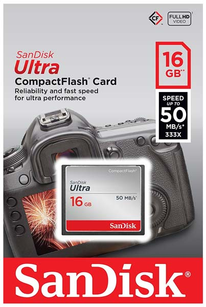 карта памяти SanDisk 16Gb Compact Flash Ultra