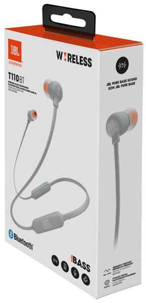 беспроводные наушники для телефона JBL T110 BT gray по самой ... 23589f8f0ee5c