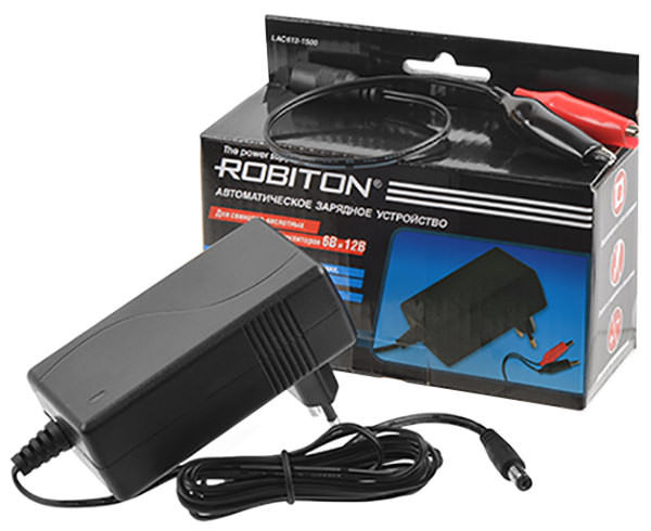 зарядное устройство для свинцовых аккумуляторов Robiton LAC612-1500