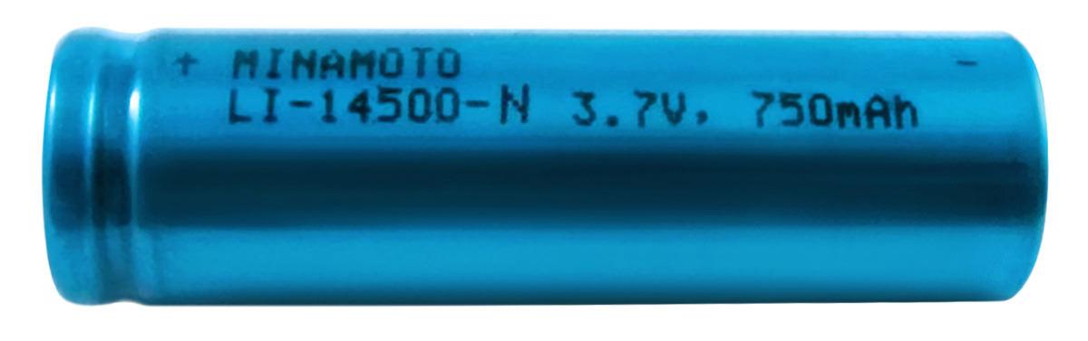 литиевый аккумулятор 3.7v Minamoto Li-14500-N 750mAh без защиты