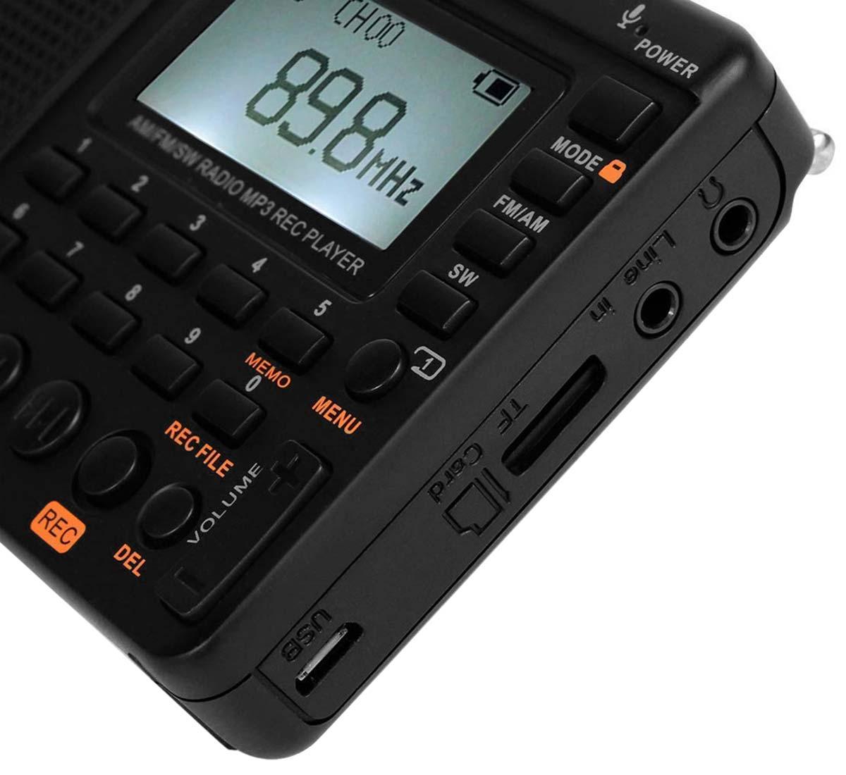 цифровой радиоприемник FM с mp3 плеером Retekess V115