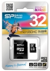 карта памяти Silicon Power 32Gb microSDHC Class 10