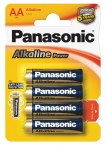 батарейки (4 шт.) Panasonic LR6/AA Alkaline Power-4BL