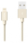 кабель для iPhone Rock Lightning Metal charge & Sync Round Cable