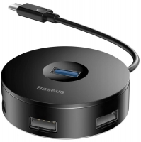 концентратор USB 3.0 Baseus round box HUB adapter Type-C
