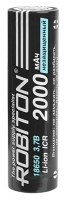 литиевый аккумулятор Robiton 18650 Li-Ion 2000 mAh без защиты