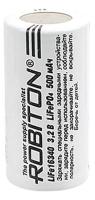 литиевый аккумулятор 3.2v Robiton LiFe16340p 600mAh защищённый