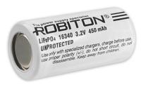 аккумулятор 3.2V Robiton LiFe16340 450mAh без защиты