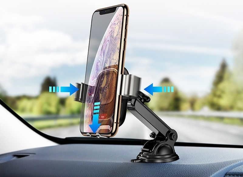 автомобильный держатель с беспроводной зарядкой Baseus Smart Vehicle Bracket Wireless Charger (Adsorption)