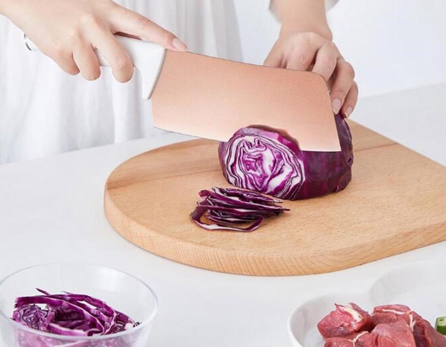 Картинки по запросу набор ножей Xiaomi Solista Solo Titanium-Plated Rose Gold Cutter